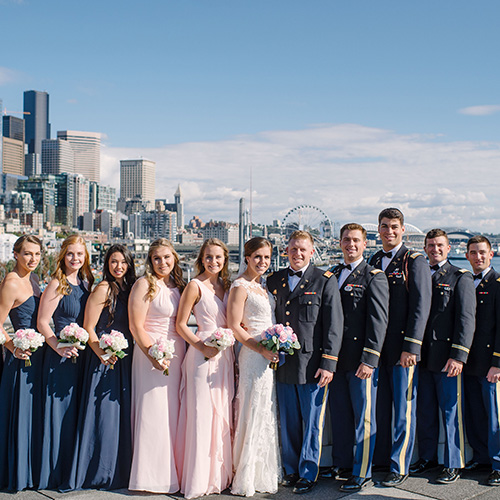 formal bridal party photo